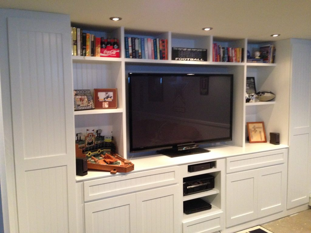 Basement entertainment center, customized to your exact specifications!