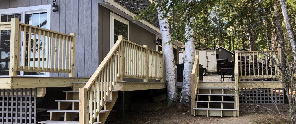 photo of custom built deck