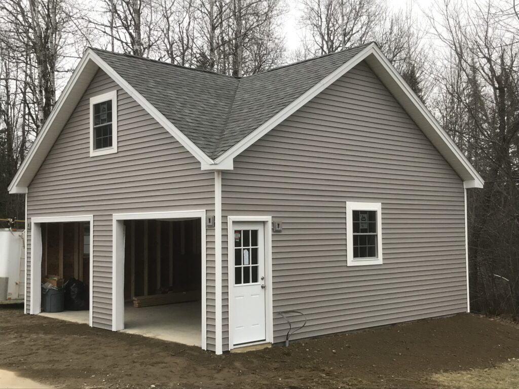2 bay garage with attic storage