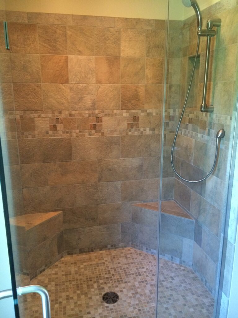 Custom tile showers are our specialty