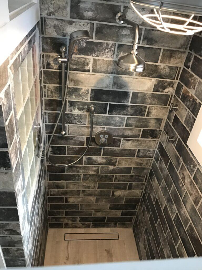 photo of custom tile shower