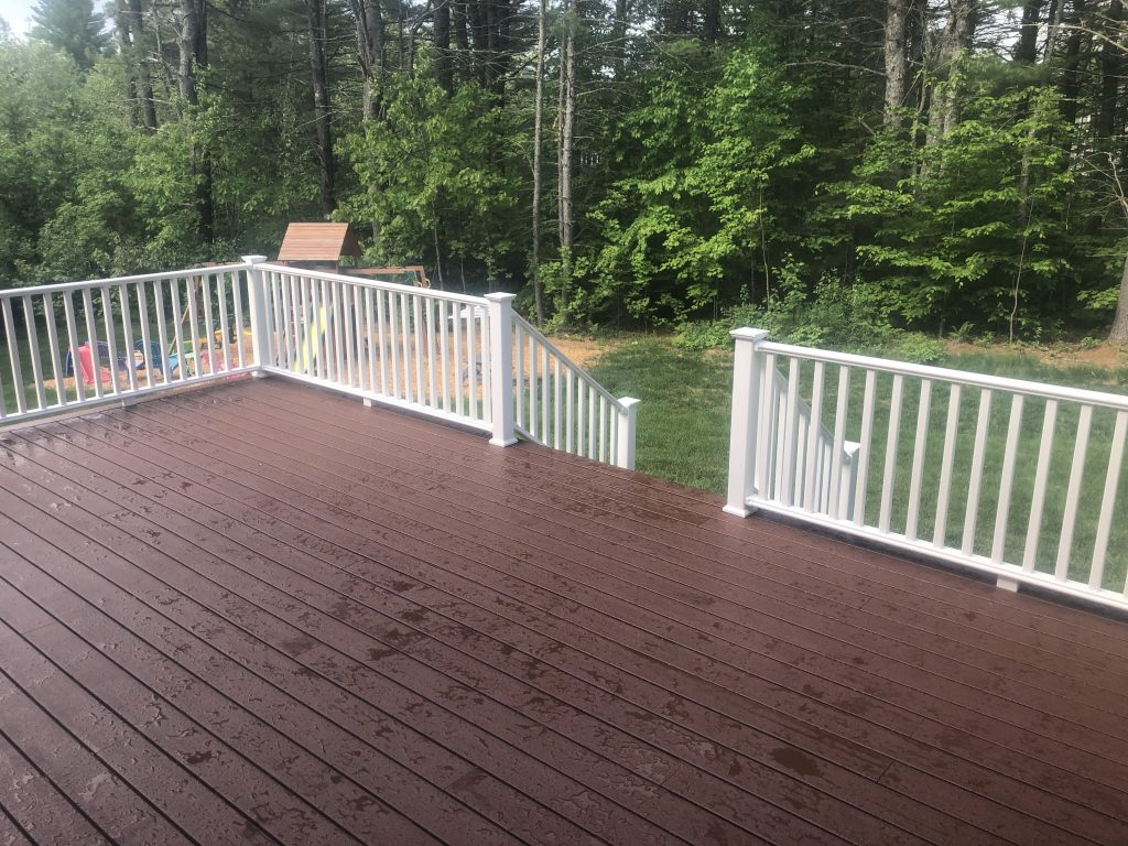 Hidden fasteners for this composite deck. smooth under your feet and a fantastic look.