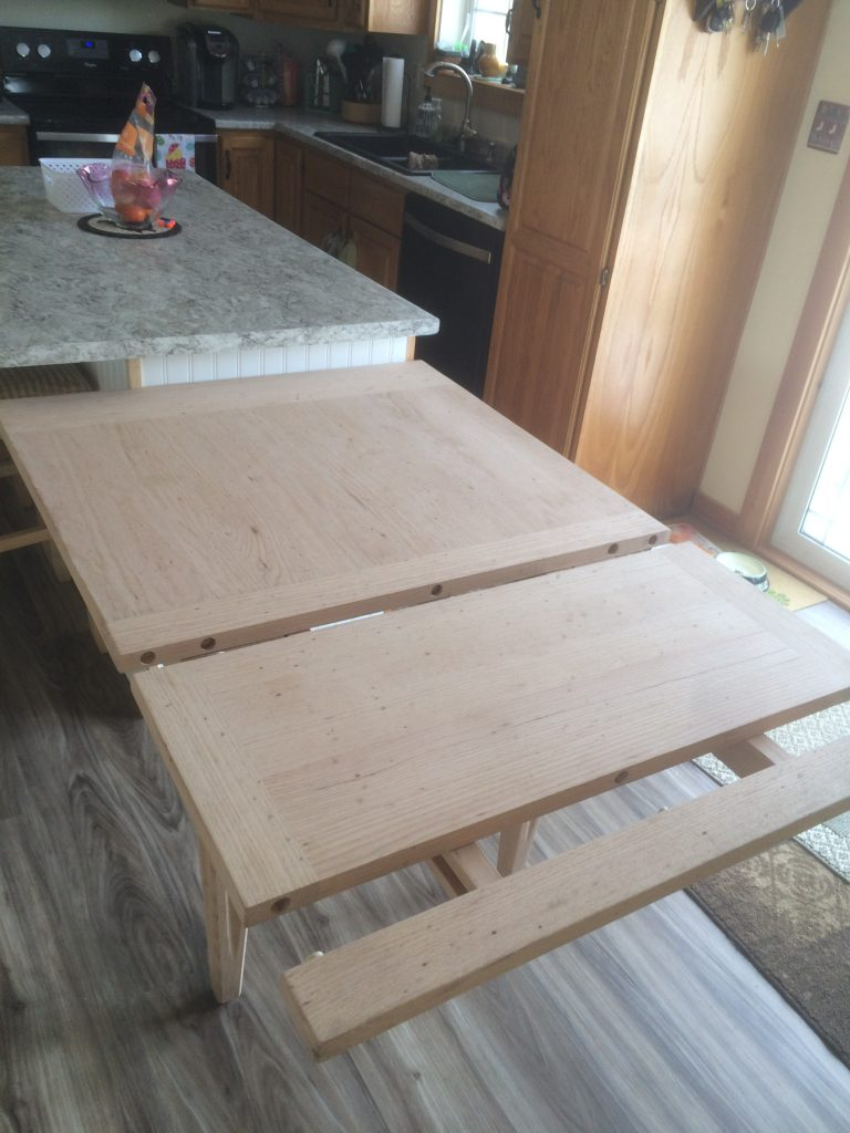 Furniture too. Extension leaf table