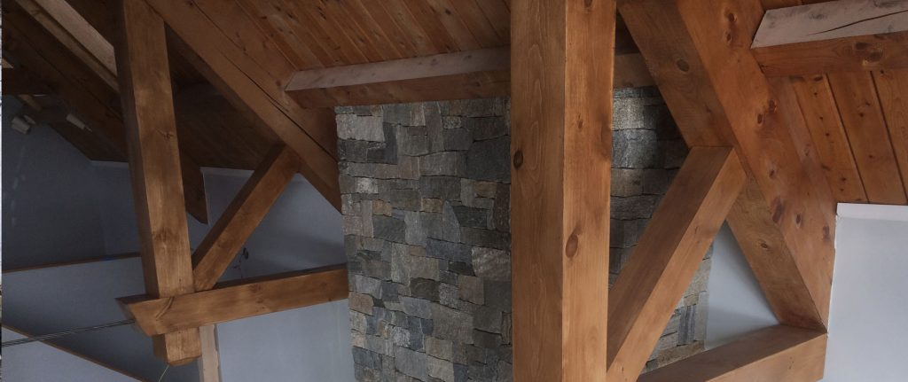 photo of custom beams in home along ceiling