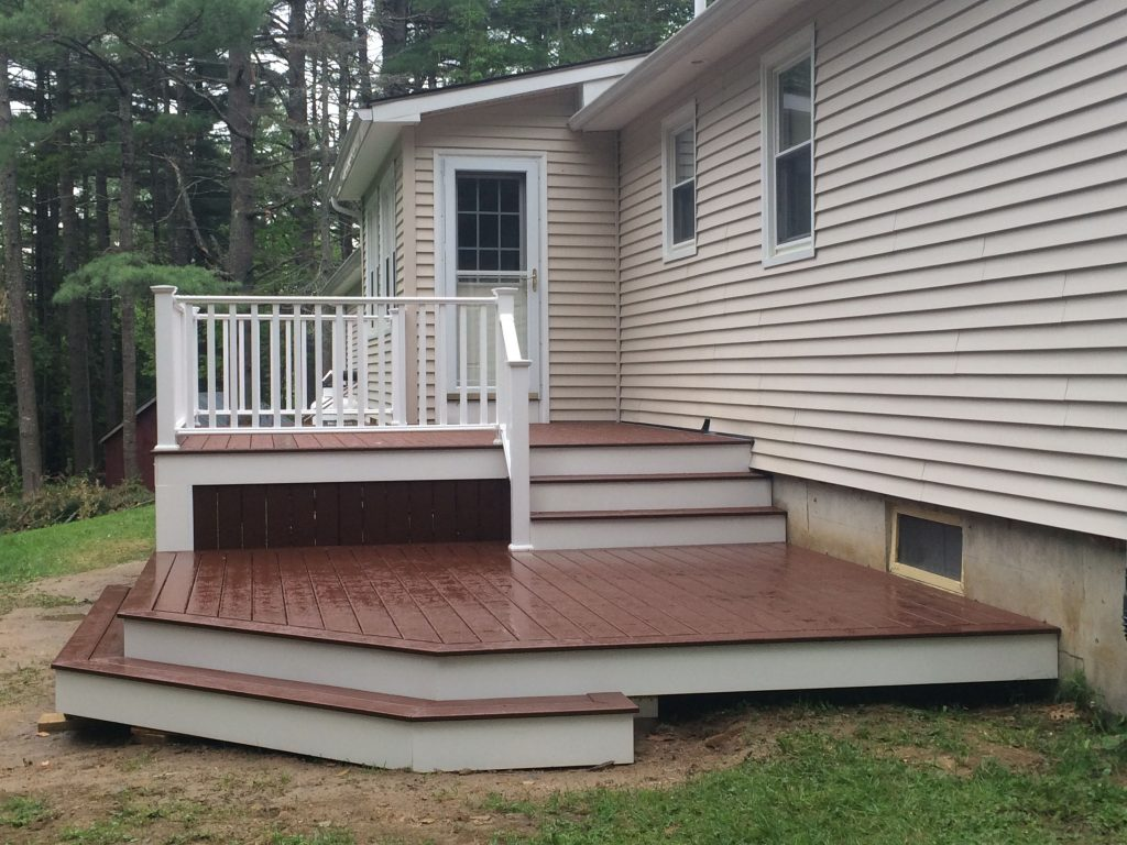 Customizable deck to accommodate the landscape, the purpose and the style you are looking for.